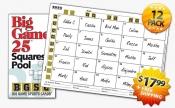 Big Game 25 Squares Pool 12-pack
