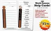 10-line Sports Strip Cards
