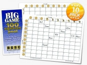 Big Game 100 Squares Pool 10-pack